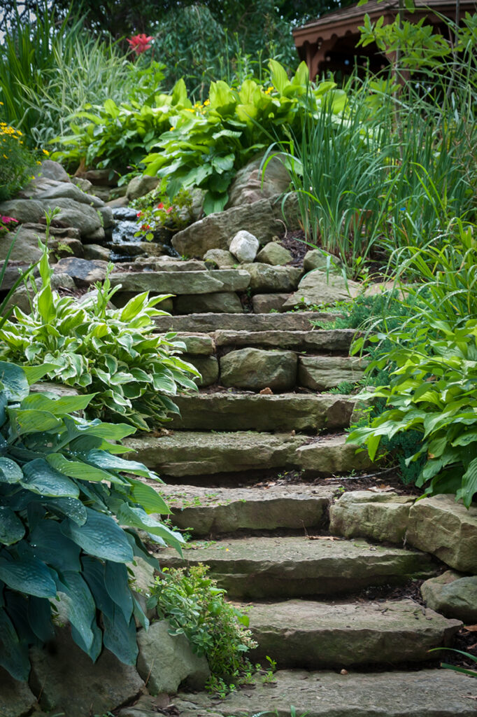 stone staircase pathway
